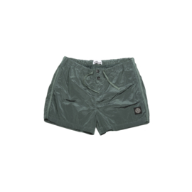 STONE ISLAND SWIMSHORT NYLON METAL DARK GREEN STEAL
