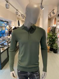Aeden knitted polo longsleeve groen