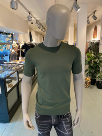 Aeden knitted t-shirt groen