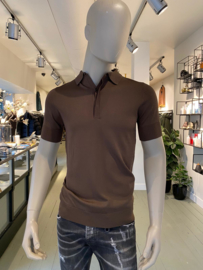 Aeden knitted polo bruin
