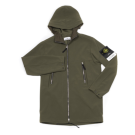 STONE ISLAND SOFT SHELL LONG OLIVE GREEN