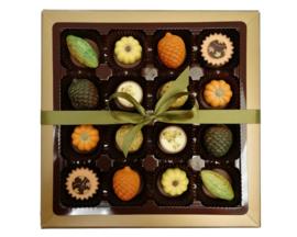 Bonbons in geschenkdoos herfst