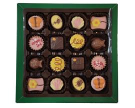Bonbons geschenkdoos 16 vaks lente
