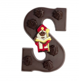 Chocoladeletter S puur
