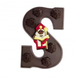 Chocoladeletter S; in de varianten puur, melk, wit