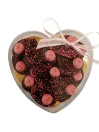 Hart doosje met pure chocolade