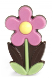 Zakje met flower marie paars
