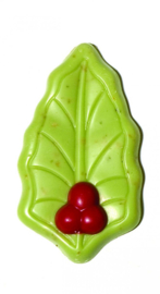 Zakje met hulstblaadjes groen