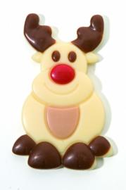 Zakje met rendier Rudolf wit