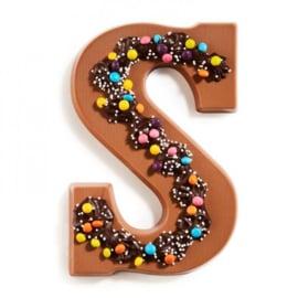 Chocoladeletter S melk party