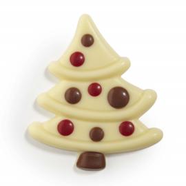 Zakje met kerstboom wit