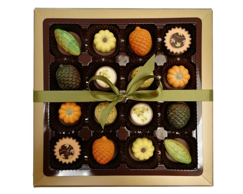 Bonbons geschenkdoos 16 vaks herfst