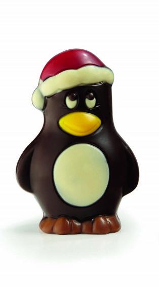 Holfiguur pinguïn puur