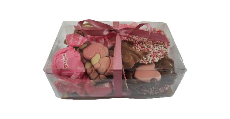 Geboorte chocolade roze