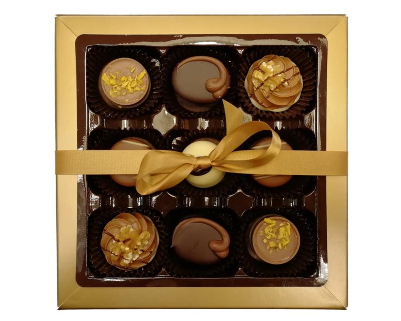 Bonbons geschenkdoos 9 vaks  neutraal