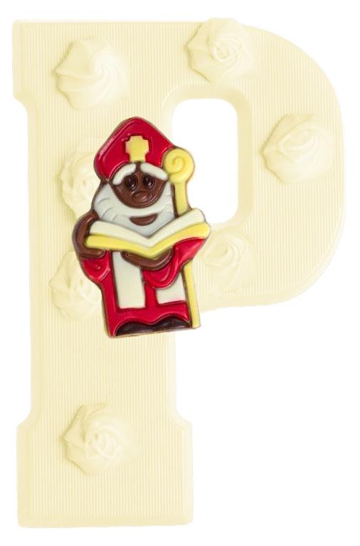 Chocoladeletter P; in de varianten puur, melk