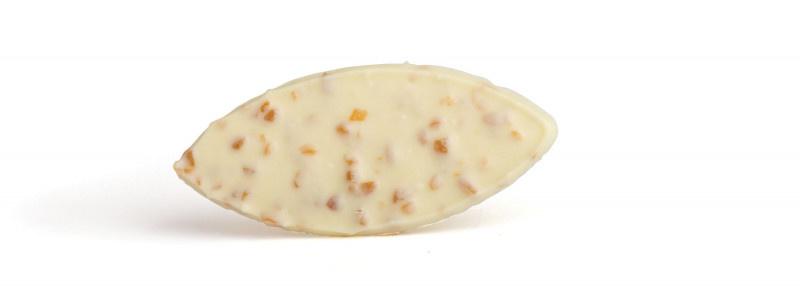 Zakje met nougatine blaadjes wit