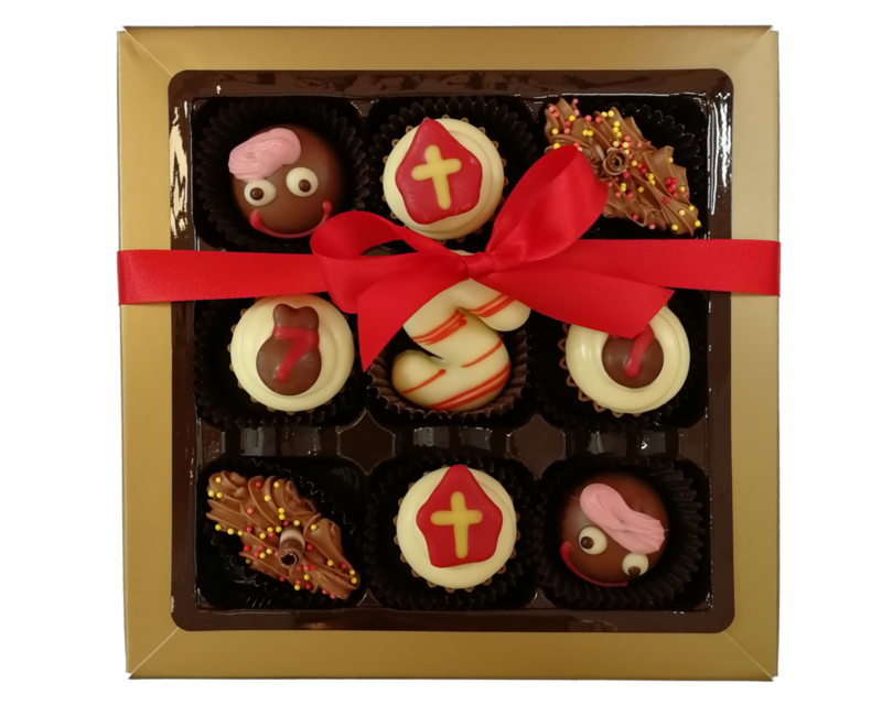 Bonbons geschenkdoos 9 vaks Sint