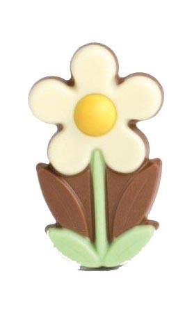Zakje met flower marie wit