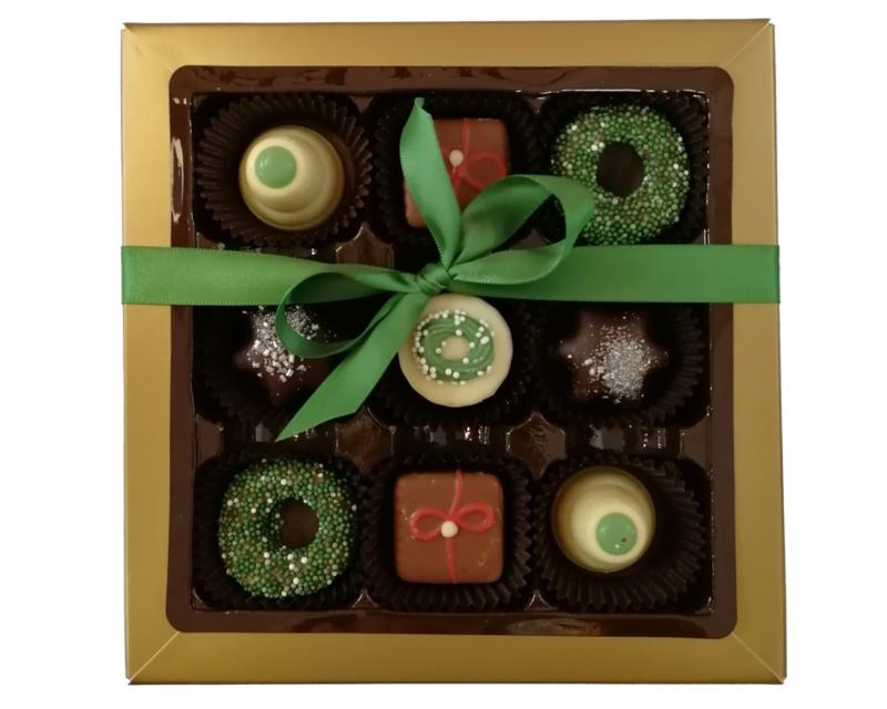 Bonbons geschenkdoos 9 vaks kerst