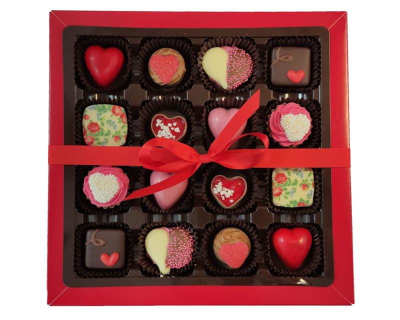 Bonbons geschenkdoos  16 vaks liefde