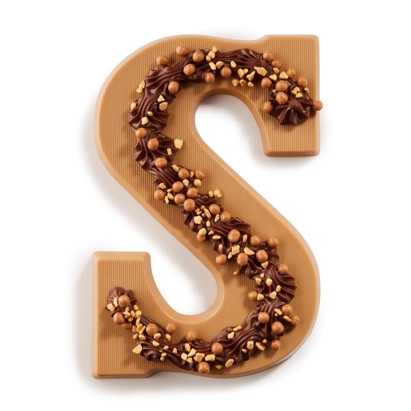 Chocoladeletter S karamel