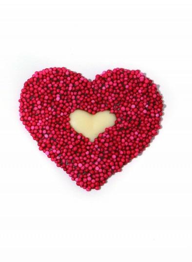 Zakje met hartjes rood