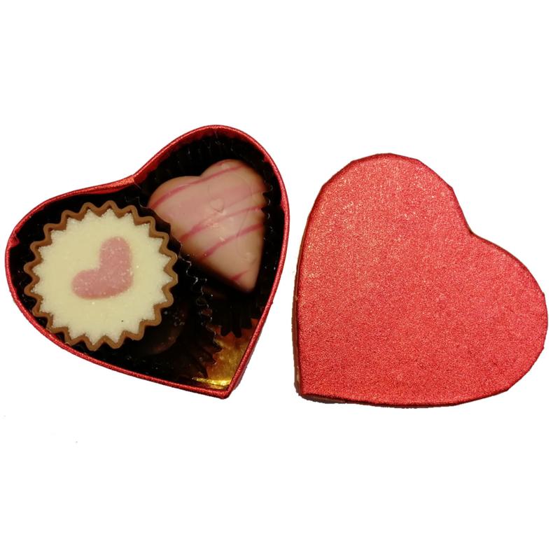 Hartje met 2 Valentijn bonbons