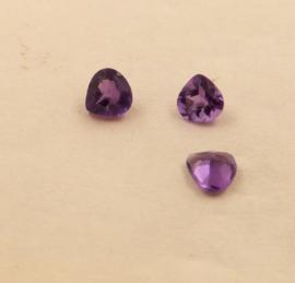 Amethyst druppel facet 5 mm