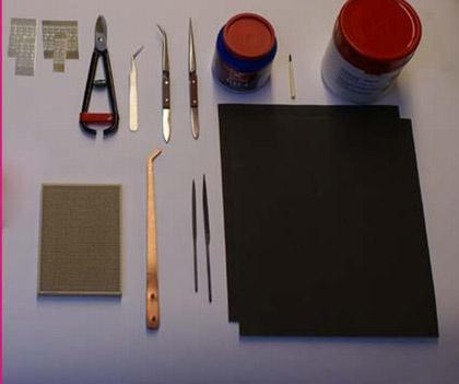 - Set 1 Gereedschap professioneel Basisset voor solderen.