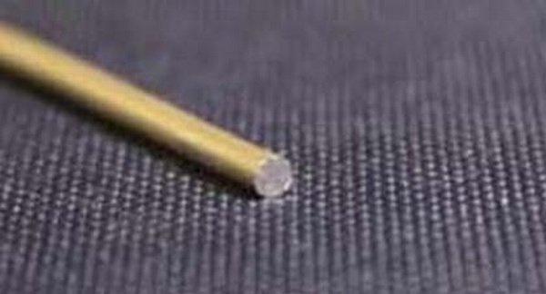 Draad rond 2,5 mm.  Prijs per cm.