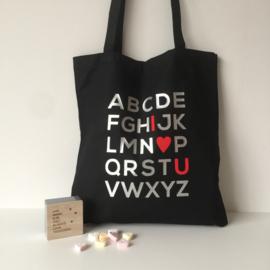 "Tote Bag ""love you"""