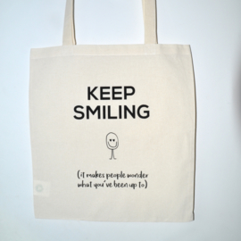 "Tote Bag ""keep smiling"""