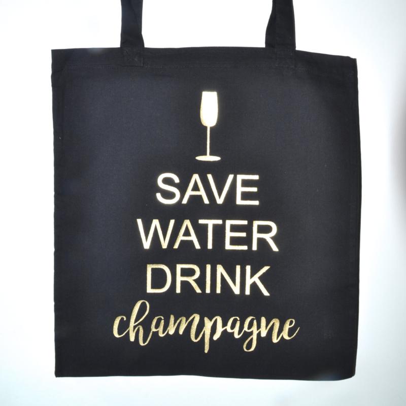 """Tote Bag """"save water"""""""