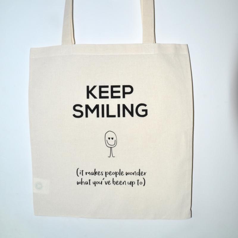"Tote Bag ""keep smiling"""