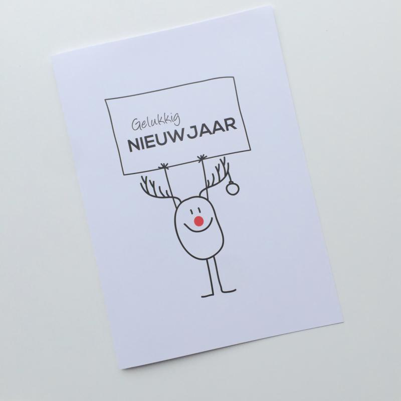 """Nieuwjaarsbrief """"Rendier"""""""