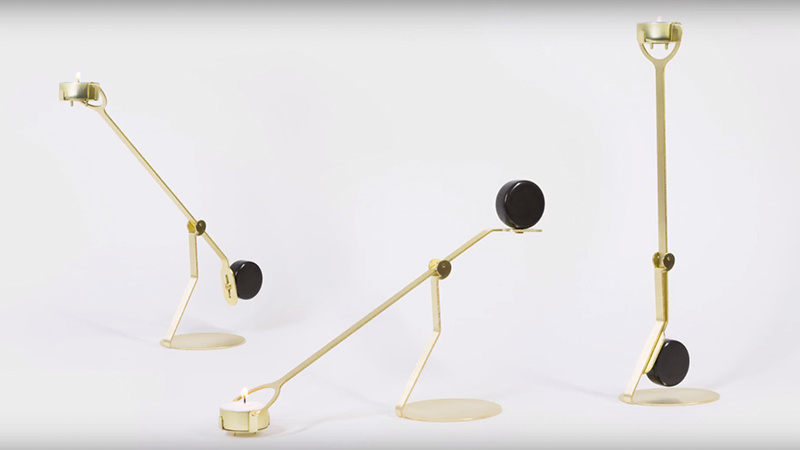 the Rising Balance candleholder