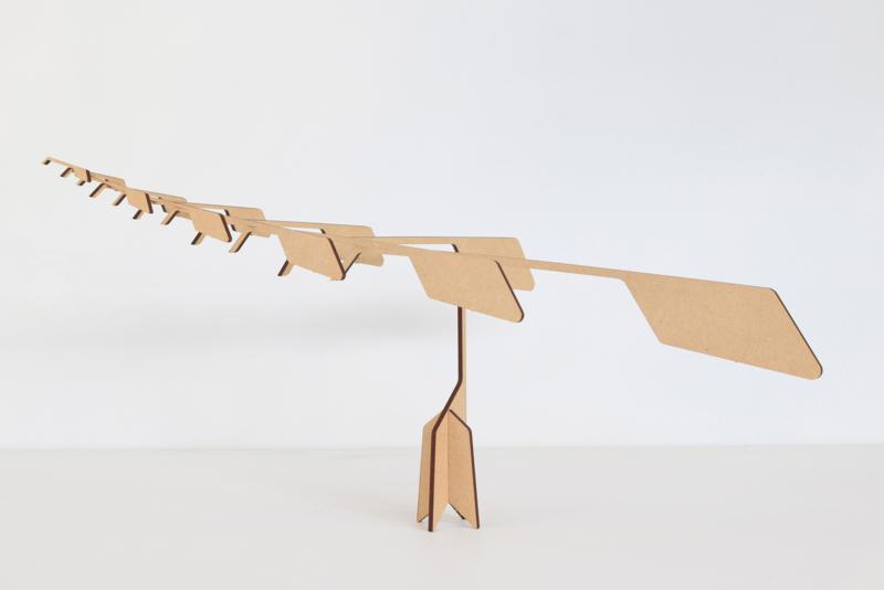 Balancer - meditatieve mobile - licht bruin