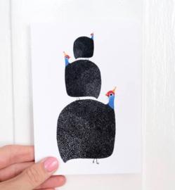 Postkaart Parelhoen - Piet & Kees