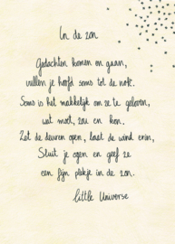 Postkaart In de Zon - Little Universe