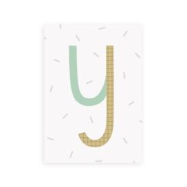 Postkaart letter Y - Leonie van der Laan