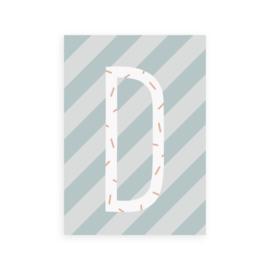 Postkaart letter D - Leonie van der Laan