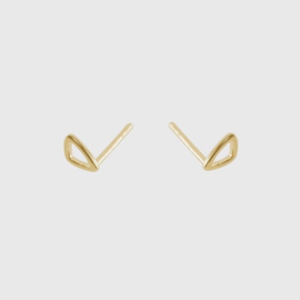 Tiny Pebble Studs Gold - Julia Otilia