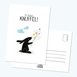Postkaart Dikke Knuffel - A Tiny Cheer