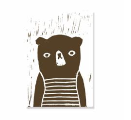 Postkaart Beer - Ted & Tone