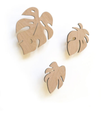 Wandhaken Monstera Leaves Set van 3 - Ted & Tone