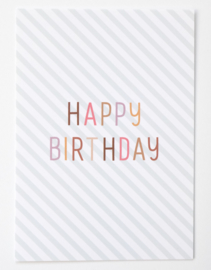 Postkaart Happy Birthday - Leonie van der Laan