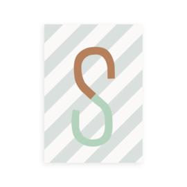 Postkaart letter S - Leonie van der Laan