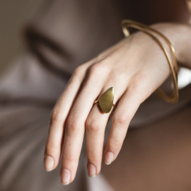 Serene Seashore Ring Gold - Julia Otilia