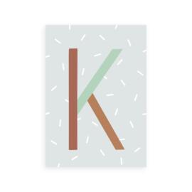 Postkaart letter K - Leonie van der Laan